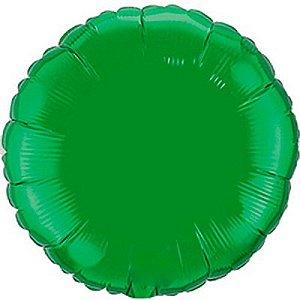 Balão Metalizado 18P - Redondo Verde
