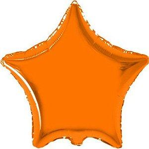Balão Metalizado 18P- Estrela Laranja