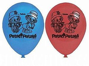 Balão Latex 9'' - Patati Patata Infantil c/ 25 unidades