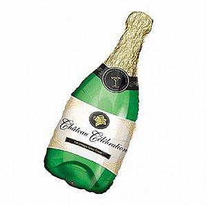 Balão Metalizado 14P - Garrafa de Champagne