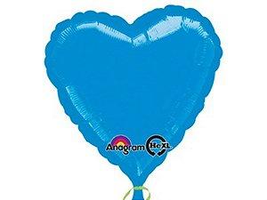 Balão Metalizado 18P - Coração Azul