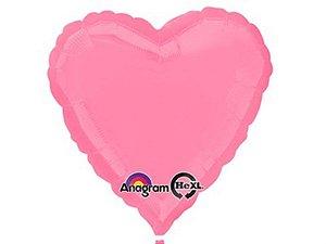 Balão Metalizado 18P - Coração Rosa