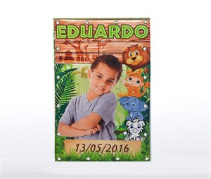 Banner Festa Infantil Personalizado com Ilhós - 80 cm x 1,20 m