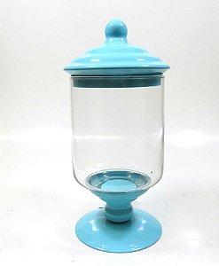 Porta Doce Pequeno de Vidro - Azul