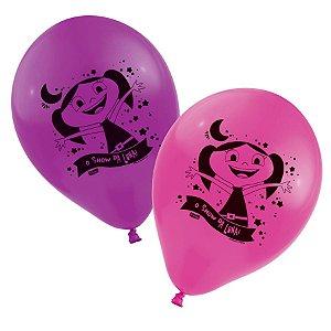 Balão 9'' -  O Show da Luna c/ 25 unidades