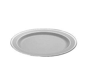 Prato Sobremesa Prata c/ 6 unidades LUXO