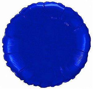 """Balão Metalizado 18"""" - Redondo Azul"""