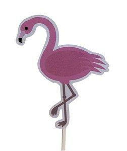 Topper Scrapbook - Flamingo c/ 10 unidades