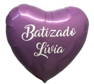 """Balão Metalizado Estrela 18"""" com 2 Linhas de Personalizado"""