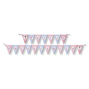 Faixa Feliz Aniversário - Bailarina c/ 1 unidade