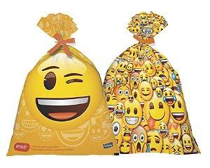 Sacola Plástica - Emoji c/ 8 unidades