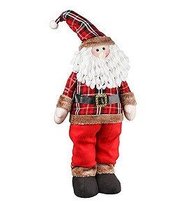 Boneco Papai Noel em pé Country 65cm - Natal