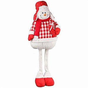 Boneco de Neve em Pé Candy 70cm - Natal