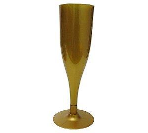 Taça Champanhe Dourada Reveillon c/ 6 unidades