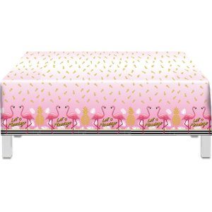Toalha Plástica - Flamingo c/ 1 unidade