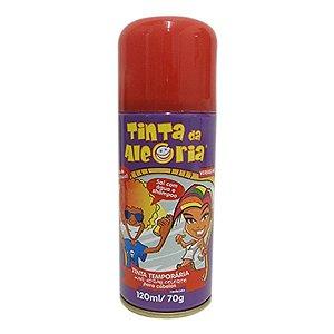 Tinta Temporária para o Cabelo Vermelho - Carnaval