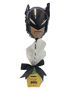 Centro de Mesa com Cachepot M e Balão Temático Batman 9P