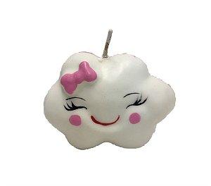 Vela 3D Nuvem Rosa