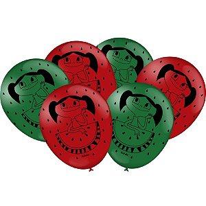 Balão Especial 9'' - O Show da Luna Melancia c/ 25 unidades