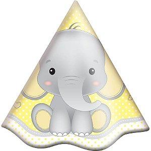 Chapéu de Aniversário - Elefantinho Amarelo c/8 unidades