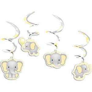 Móbile - Elefantinho Amarelo c/ 4 unidades