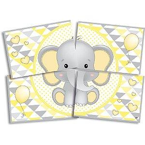 Painel 4 Lâminas - Elefantinho Amarelo c/ 1 unidade