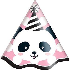 Chapéu de Aniversário - Panda c/8 unidades