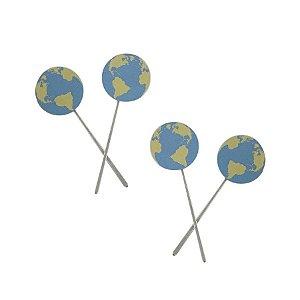 Topper Para Docinho Planeta Terra C/10 Unidades