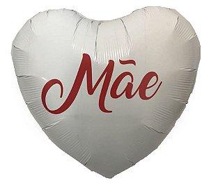 Balão Metalizado de Coração Mãe 18''