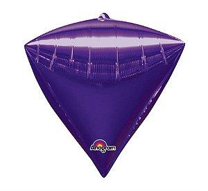 Balão Metalizado Decorador Diamante Roxo