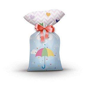 Sacola Plástica - Chuva de Amor c/ 8 unidades