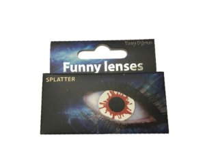 Lentes De Contato Splatter Funny Fashion