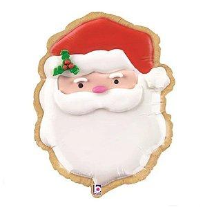 Balão Metalizado Papai Noel Rosto - Natal