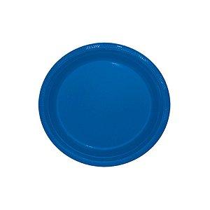 Prato de Plástico Refeição Azul Royal c/ 10 unidades