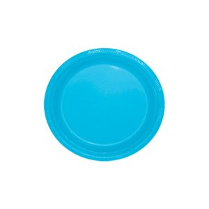 Prato de Plástico Sobremesa Azul Claro c/ 10 unidades