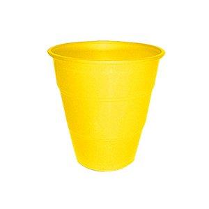 Copo de Plástico Reforçado Amarelo c/ 10 unidades