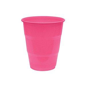 Copo de Plástico Reforçado Rosa Pink c/ 10 unidades