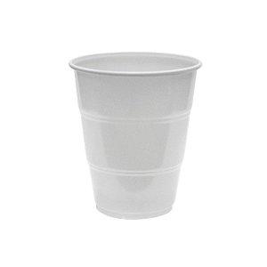 Copo de Plástico Reforçado Branco c/ 10 unidades