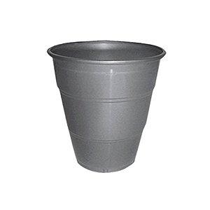 Copo de Plástico Reforçado Prata c/ 10 unidades