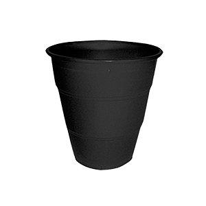 Copo de Plástico Reforçado Preto c/ 10 unidades