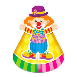 Chapéu de Aniversário - Circo Mágico c/ 8 unidades