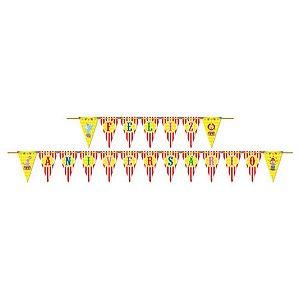 Faixa Feliz Aniversário - Circo Mágico c/ 1 unidade