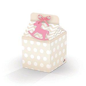 Caixa Milk - Chá de Bebê Menina c/ 8 unidades