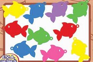Apliques Peixes para Pescaria c/ 10 unidades - Festa Junina