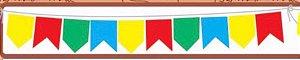 Bandeirinhas Junina 10 metros TNT - Festa Junina