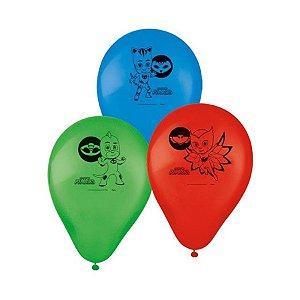 Balão Especial 9'' - PJ Masks c/ 25 unidades