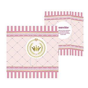 Convite - Realeza Menina c/ 8 unidades