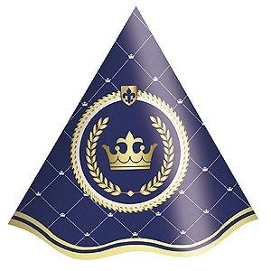 Chapéu de Aniversário - Realeza Menino c/ 8 unidades