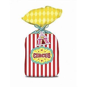 Sacola Plástica - Circo Menina c/ 8 unidades