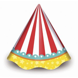 Chapéu de Aniversário - Circo Menino c/ 8 unidades